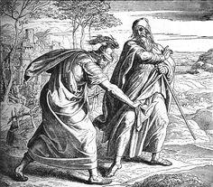 Bilder der Bibel - Sauls Verwerfung - Julius Schnorr von Carolsfeld