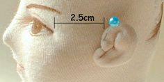 Very good cloth doll ear tutorial