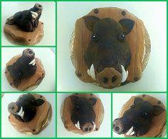 Torta trofeo cinghiale in pasta di zucchero - wild boar cake