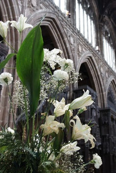 Church flowers – Manchester Cathedral