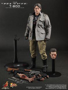 1 6 Hot Toys The Terminator T1 T800 Arnold Schwarzenegger | eBay