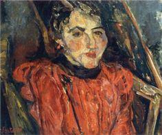 Portrait of Madame X (also known as Pink Portrait) - Chaim Soutine