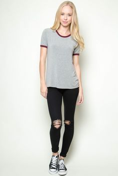 Brandy ♥ Melville | Jessica Top - Tees - Tops - Clothing