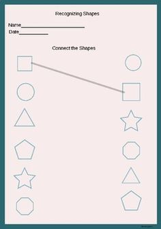 Kids Discover Connecting the correct shapes. Creative Curriculum Preschool Preschool Writing Numbers Preschool Free Preschool Preschool Homework Letter Tracing Worksheets Pre K Worksheets Printable Preschool Worksheets Kindergarten Prep Shape Worksheets For Preschool, Shapes Worksheet Kindergarten, Preschool Writing, Numbers Preschool, Kindergarten Math Worksheets, Preschool Homework, Kindergarten Prep, Shapes Worksheets, Tracing Worksheets