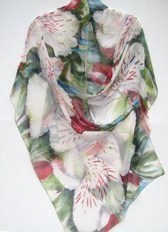ALSTROEMERIA Silk Wrap by SilkSiren on Etsy, $280.00
