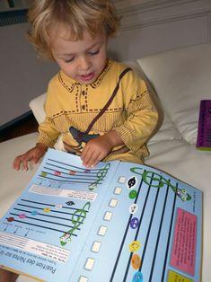 Apprendre à lire, dessiner les notes de musique en s'amusant avec les méthodes du Tout Petit Conservatoire