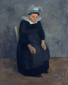Artwork of the Month - July 2016, William Scott, Breton Woman, 1939, Oil on canvas, 91.7 x 73.7 cm / 36 x 29 in, Private collection, London