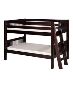 Cappuccino Mission Side-ladder Twin Low Bunk Bed