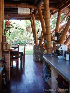 this beautiful guadua bamboo house in costa rica is located near playa sombrero at the osa peninsula the bamboo house was designed and built by costa