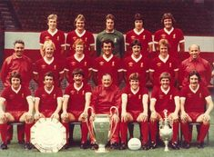 Liverpool FC : Back row : Joey Jones, Phil Thompson, Ray Clemence… Liverpool Fc Team, Liverpool Legends, Liverpool Home, Liverpool History, Bob Paisley, Squad Pictures, This Is Anfield, La Champions League, West Brom