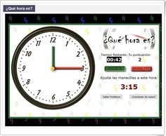 """¿Qué hora es?""  I  2º,3º,4º Primaria http://mrnussbaum.com/que-hora-es/"