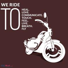 We Ride... Bike Quotes, Healing, Adventure, Adventure Movies, Adventure Books, Bicycle Quotes, Biking Quotes