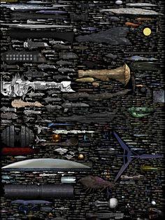 Comparer la taille des vaisseaux spatiaux avec une gigantesque infographie [MAJ]