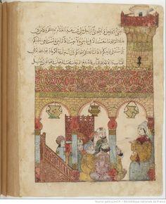 Folio 164 Verso: maqama 50. Abu Zayd in the mosque of Basra
