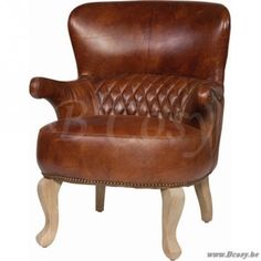 "Lifestyle94-Lifestyle Vernon Armchair Leather <span style=""font-size: 6pt;""> Fauteuil-Club-Clubstoel-Clubzetel-Zetel-Chauffeuse-armzetel-armstoel-chair-Seat-Couch-Sessel </span>"