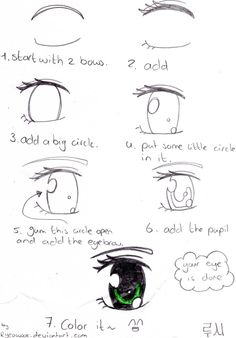 How to draw a manga eye by ryeowook.deviantart.com