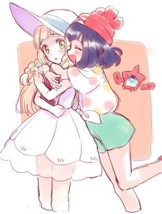 pokemon sun moon, lillie & trainer