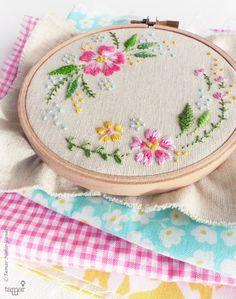 Embroidery kit DIY kit Hand embroidery Circle by TamarNahirYanai