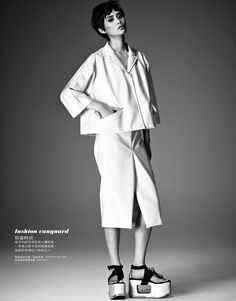 Ming Xi Stars in Elle Taiwans March 2013 Cover Story by Jason Kim