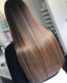 38 Best Bronzed Brown Hair Color Trends for 2018 - Aktuelle Damen Frisuren Brown Hair Balayage, Brown Blonde Hair, Brunette Hair, Brown Hair Shades, Brown Hair Colors, Strait Hair, One Length Haircuts, Sleek Hairstyles, Long Straight Hairstyles