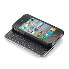 Totally want!!!  Bluetooth Keyboard Case for iPhone Devices at Brookstone—Buy Now!