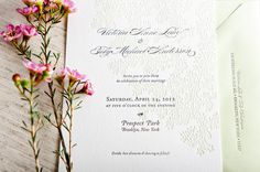 Invitation - I like the simplicity of this!