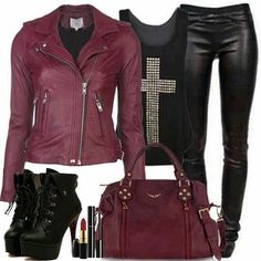 Hipster Outfits – Page 8818215458 – Lady Dress Designs Bad Girl Outfits, Rock Outfits, Hipster Outfits, Edgy Outfits, Fashion Outfits, Womens Fashion, Hipster Clothing, Teen Outfits, Biker Chick Outfit