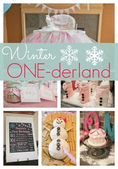 Throw your little one a fabulous Winter ONE-derland First Birthday like this one!
