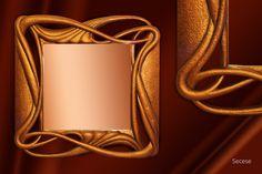Zrcadlo Secese 2009,  š: 80 x v: 80 cm, dřevo lipové, namořené , pozlacené, vosková patina