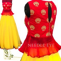 The bell frill crop top with this layered skirt is a go to dress for your parties and functions:) needleeye needleeyeboutique Crop Tops For Kids, Girls Crop Tops, Peach Skirt, Crop Top Designs, Indian Skirt, Designer Blouse Patterns, Bridal Blouse Designs, Lehenga Designs, Layered Skirt
