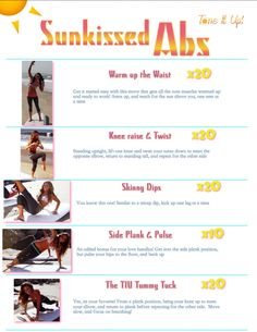 Sunkissed Abs printable workout & Follow-Along Video!