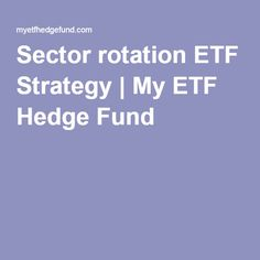 Etf sector trading strategies