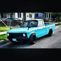Sweet pro touring Chevy luv Small Trucks, Mini Trucks, Custom Trucks, Custom Cars, Classic Trucks, Classic Cars, Small Pickups, Chevy Luv, Little Truck