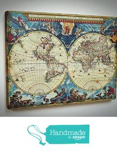 World map vintage style wood sign wood sign at allposters rustic style world map on the wood personal offer exclusive gift for ladies gumiabroncs Gallery
