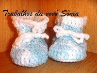 Trabalhos da vovó Sônia: Sapatinho para bebè tipo botinha - 2 modelos - cro...