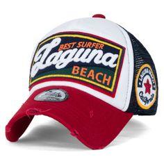 d9f905234a4 Details about ililily LAGUNA BEACH Vintage Distressed Trucker Hat Black  Snapback Baseball Cap