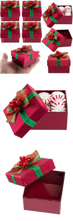 for keeps 8 pack red mini gift boxes with lids pre wrapped gift