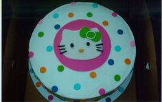 round with fondant kitty