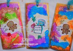Apuntes de colores: Noviembre mágico. Técnica tag de Lola