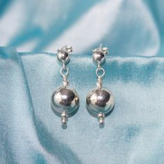 Chic Sterling Silver Ball Earrings by LitaKinsey on Etsy, $25.00
