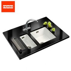 Product image for Franke Galassia Ceramic Twin Bowl Undermount Kitchen Sink