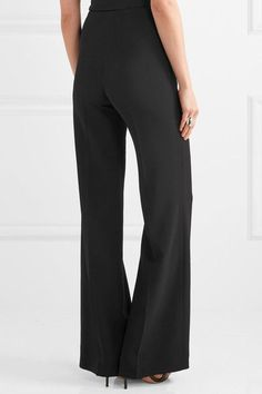 Roland Mouret - Axon Stretch-crepe Wide-leg Pants - Black