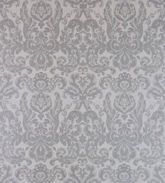 Brocatello (312112) - Zoffany Wallpapers - This classic Zoffany brocade damask design, has been recreated for walls, whilst still retaining its fabric heritage with the subtle textural detail. Wide width. Shown in the Dusk grey colourway – other colours available. Please request sample for true colour and texture.