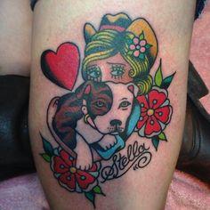 Pitbull tattoo love it