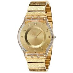 Swatch Women's Skin SFK355G Gold Stainless-Steel Swiss Quartz Watch with Gold Dial | Overstock.com Shopping - Big Discounts on Swatch Swatch