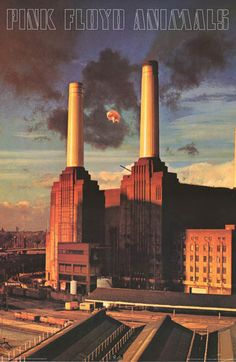 "A great poster of the unforgettable Hipgnosis album cover of Pink Floyd's 1977 LP Animals! Pigs on the Wing... Fully licensed. Ships fast. 24x36 inches. Take some ""Time"" and check out the rest of our"