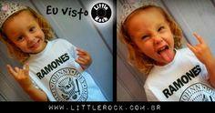 Olha a princesinha da Tinna vestindo Ramones \m/ #LittleRock