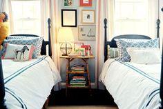 Kid's Bedroom: I love the twin beds