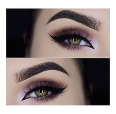 Smokey eye with a purple undertone