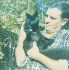 Jack Kerouac and cat